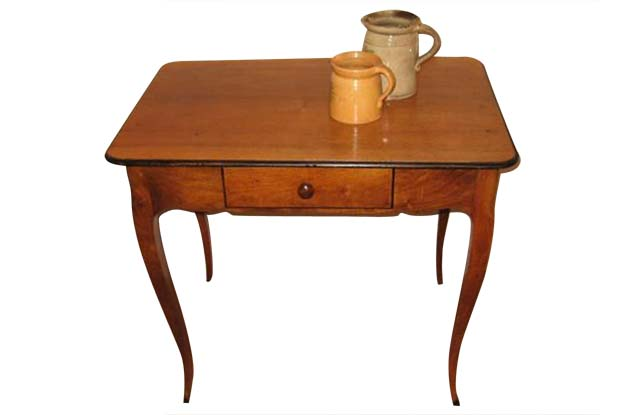 18th Century French Walnut Side Table from Grenoble in the style of Hache c.1750- Spinn