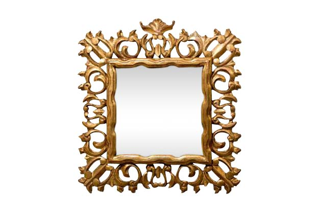 Florentine Gilt Wood Frame with Mirror