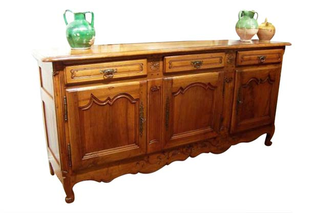 SOLD - French 19th Century Louis XV Style Walnut Enfilade