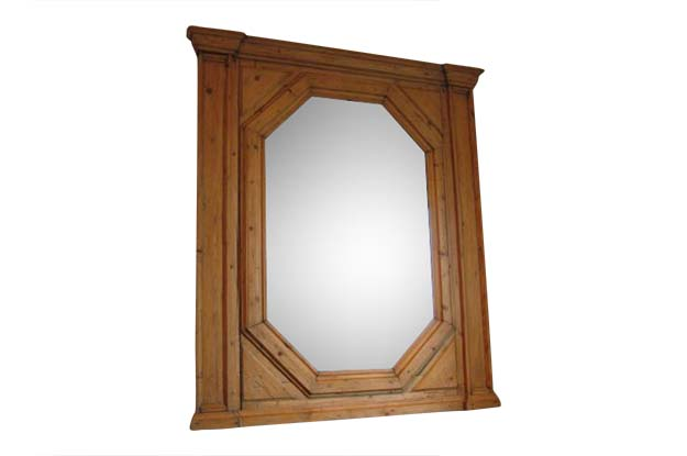 19th Century English Mirror with Beveled Glass  TOHH