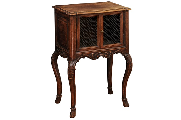 19th Century French Walnut Side Table Circa 1870