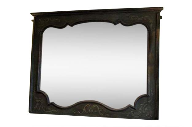 Italian 18th Century Louis XIV Painted Mirror - TOHH