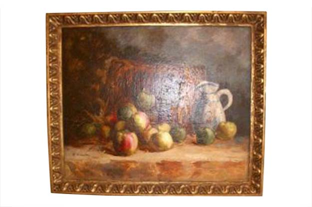 French Impressionist Style Oil Still Life Painting Signed B. Vincendon