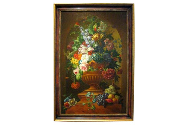 Swedish 1780s Floral Painting in the Manner of Paulus Theodorus van Brussel