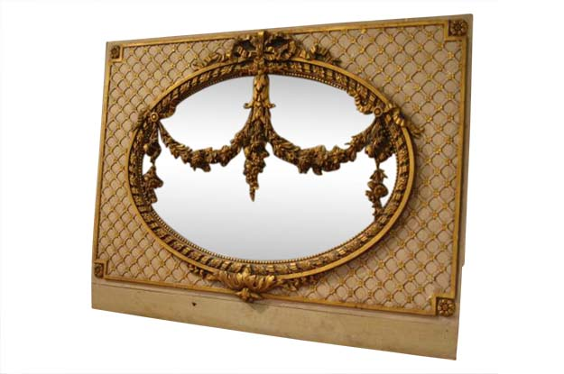 19th Century French Painted and Gilt Mirror Circa 1880 -Benton