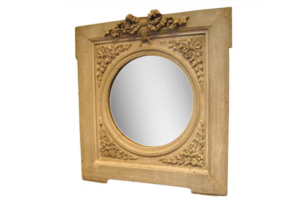 Louis XVI Wooden Framed Mirror-French-Late 19th Century-Pent