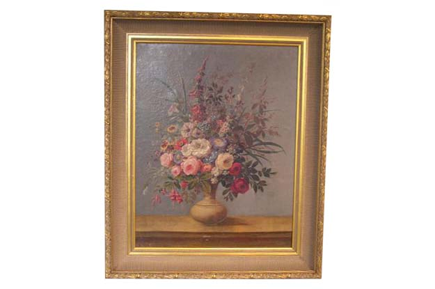 Italian 18th Century Painting of a Vase of Flowers