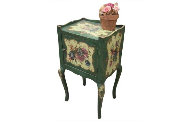 Italian 19th Century Venetian Painted Chevet (Side Table)