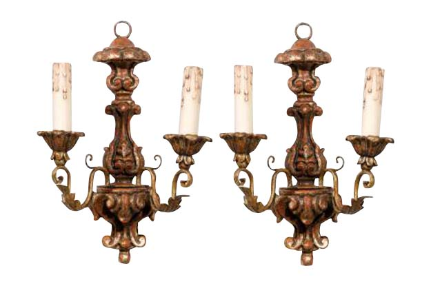Pair of Giltwood Sconces- French