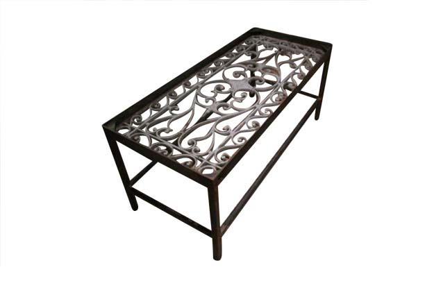 A Single French Iron Balcony Made Into a Coffee Table-Pent