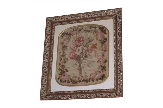French 19th Century Silk Aubusson Tapestry. Mizz