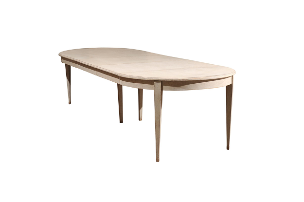 Swedish  Extension Table with Three Leaves, Circa 1920