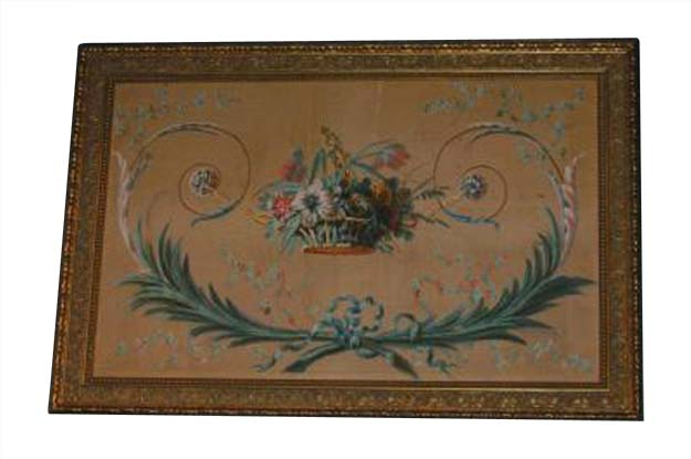 French 18th Century Directoire Painted Panel, Circa 1790