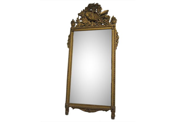 French 18th Century Louis XVI Giltwood Mirror, Circa 1780