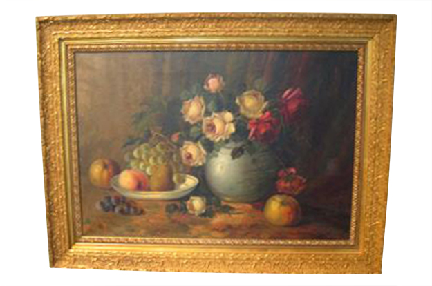 French 19th Century Oil on Canvas Still Life Painting, Circa 1860