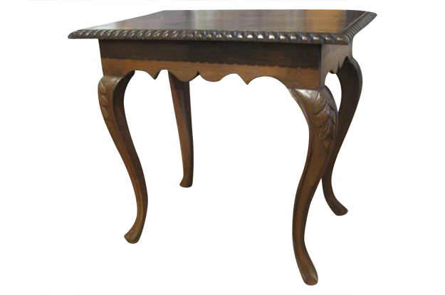 18th Century Walnut Swedish Rococo Side Table Mizz