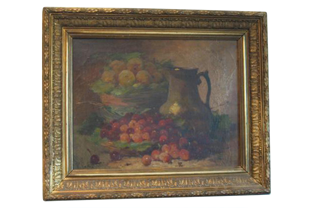 French 18th Century Louis XVI Oil on Canvas Still Life Painting