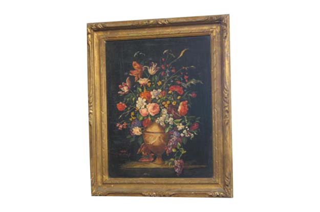 French 19th Century Framed Flower Still Life Painting