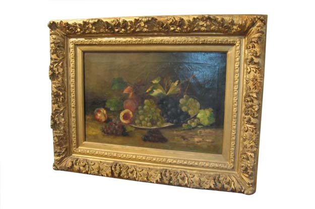 French 19th Century Oil on Canvas Still Life Painting
