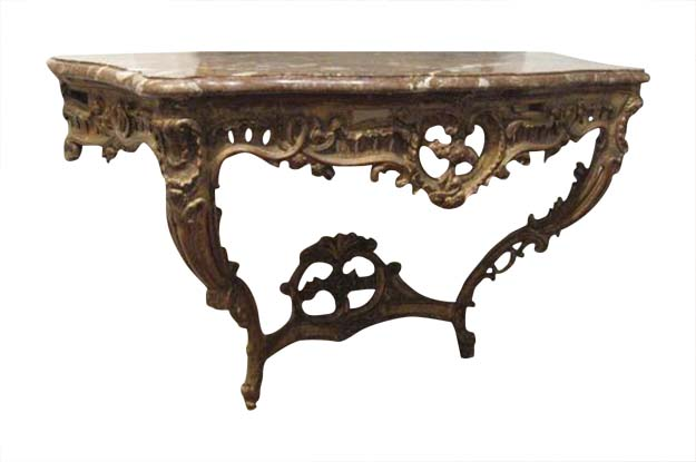 French Late 18th Early or 19th Century Marble Top Console