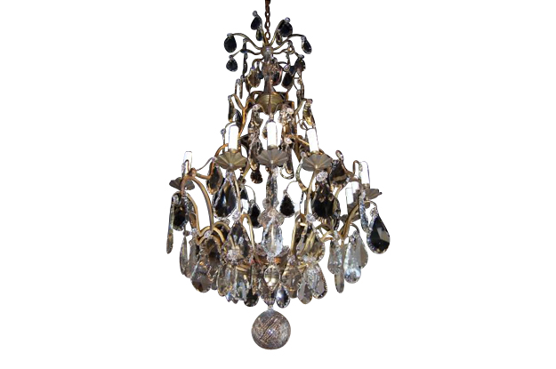 French 19th Century Crystal Chandelier, circa 1840